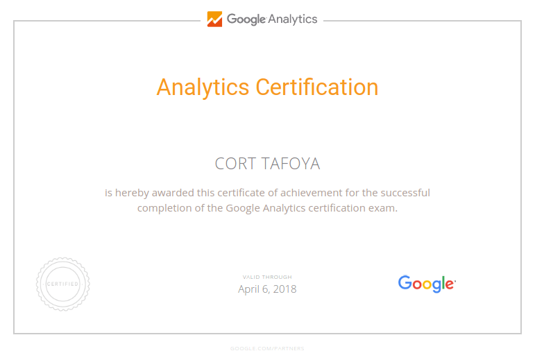 google analytics certified trainer san francisco